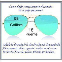 como saber el tamaño de mi gafa de sol