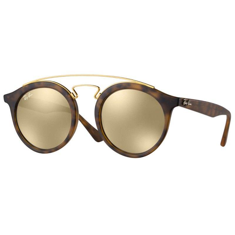 423399316 Óculos de Sol unisexo muito leves e modernos. Frente de massa havana com ponte  dupla de metal dourado, hastes também em massa e lentes orgânicas ...