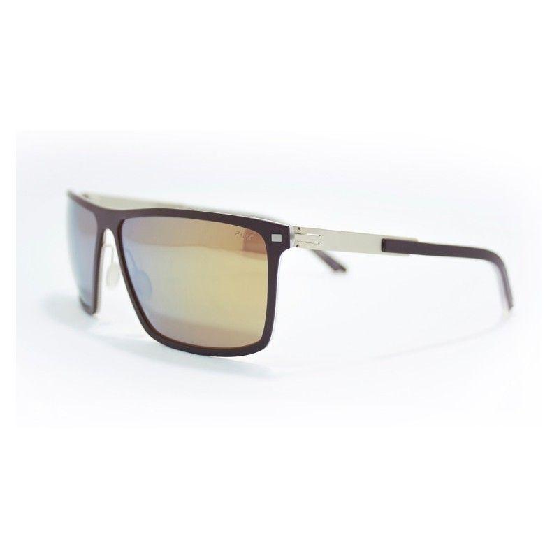 1d165f37d547d Óculos de sol de alta gama, metálicos (aço quirúrgico) com frente chocolate  e lentes orgânicas polarizadas e espelhadas douradas. Extremamente leves.