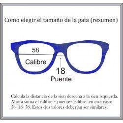saber el tamaño correcto de una gafa
