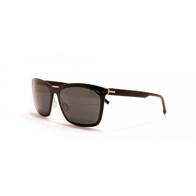 b4720a0a7112f Óculos de sol de alta gama, femeninas de massa preta com armaçao metálica  de aço quirúrgico e lentes orgânicas cinzentas. Extremamente leves.