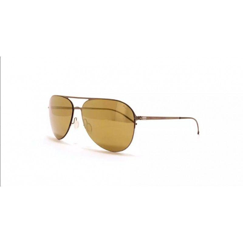 65c36c6464164 Óculos de sol de alta gama, metálicos (aço quirúrgico, antialérgico) com  frente de cor cobre e lentes douradas. Extremamente leves.